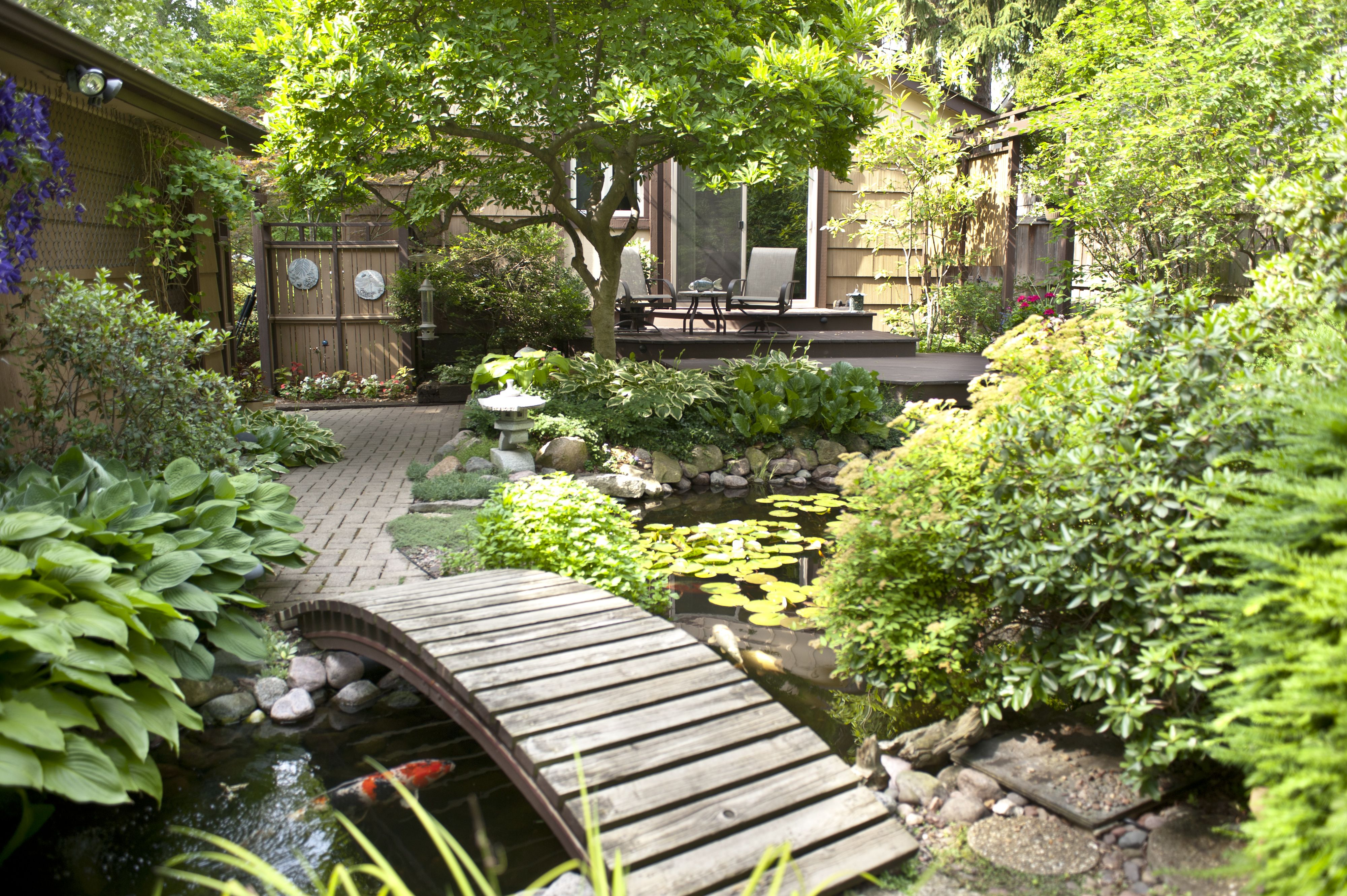 koi pond in downers grove il creates unique outdoor living space