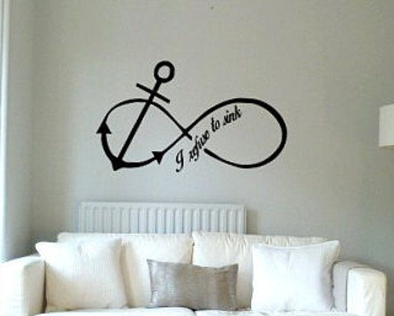 anchor infinity decorative vinyl wall art decal or removable sticker bathrooms living room