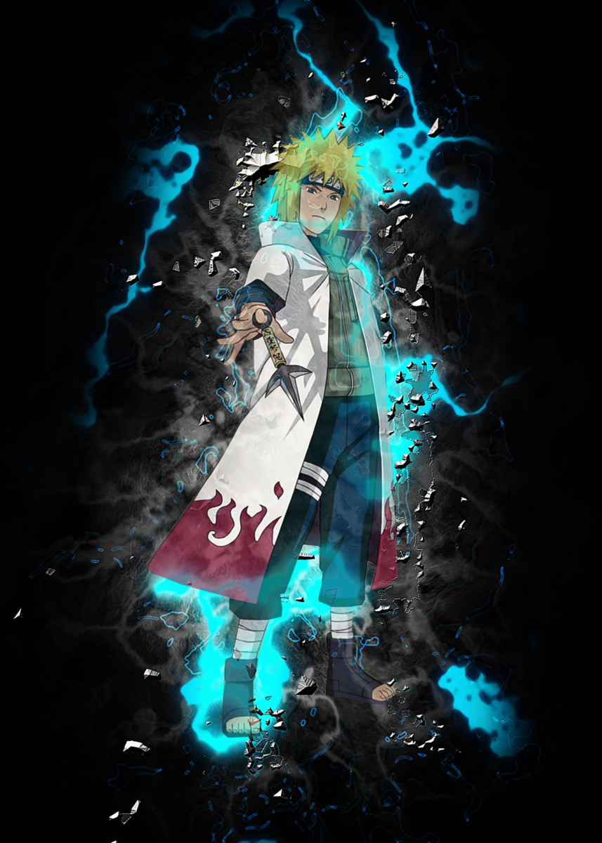 'Minato Namikaze' Poster Print by Goca Art Displate in