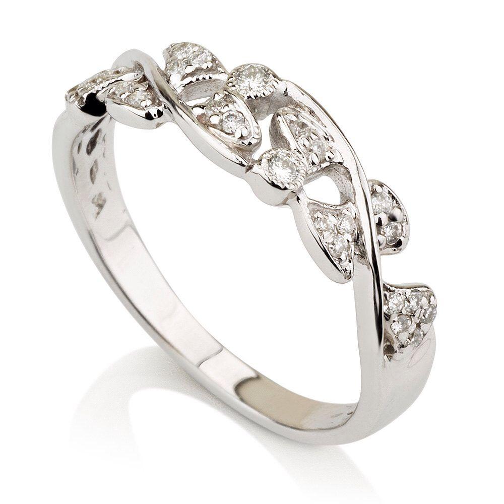 Leaves Wedding Ring-14k White Gold With Diamonds ,Antique, Vintage ,Leaf, Promise, Engagement by gispandiamonds on Etsy https://www.etsy.com/listing/210805645/leaves-wedding-ring-14k-white-gold-with