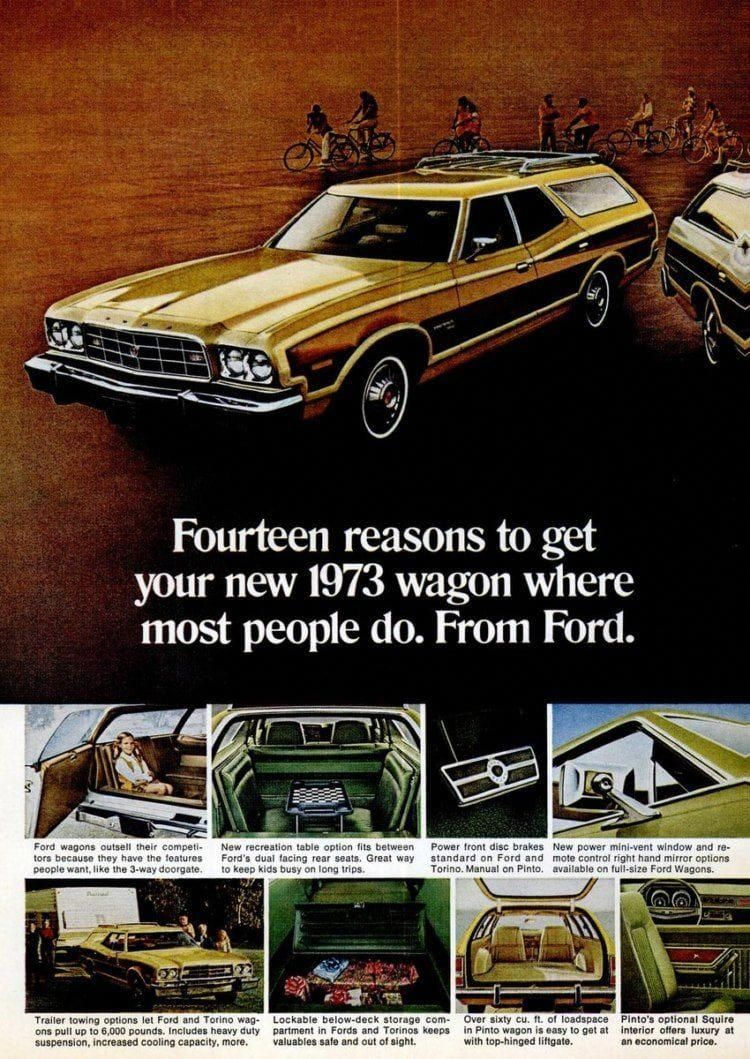 Ford Gran Torino Squire Station Wagons 1973 1974