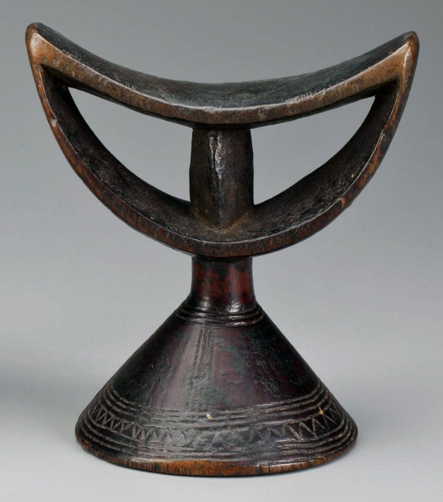 Africa headrest from the oromo people of ethiopia wood home
