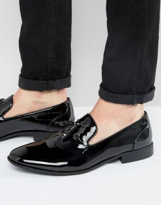 7bffc800472 DESIGN tassel loafers in black patent