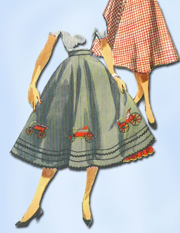 Simplicity Pattern 4957 Misses\' Circle Skirt with Uncut Transfer for ...