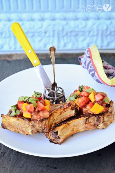Wow, these pork chops look amazing. via how does she