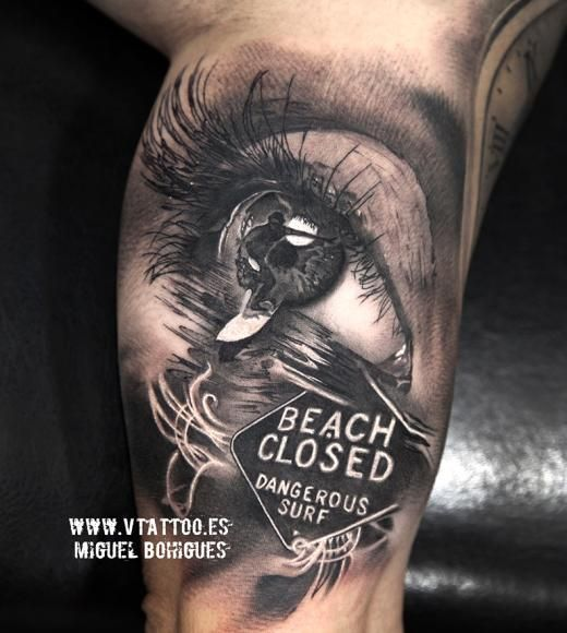 Eye surf tattoo - Miguel Bohigues Vtattoo