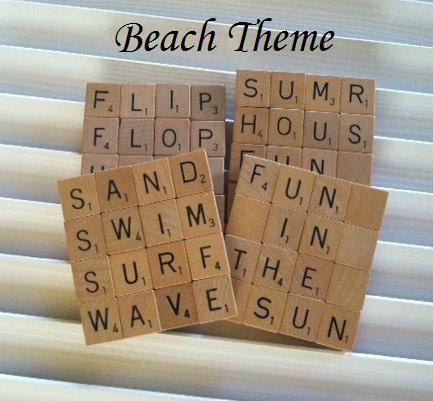 Wooden Scrabble Letters Tiles Craft Alphabet Game Fun Gift FOOTBALL TEAMS UK