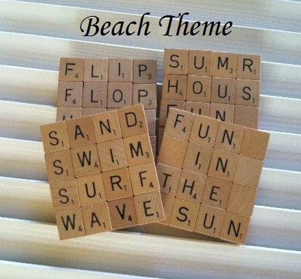 Scrabble coasters words