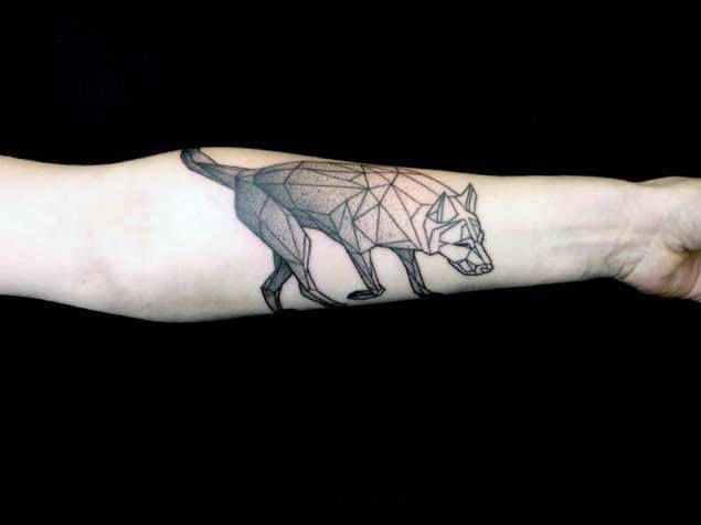 90 Geometric Wolf Tattoo Designs For Men Manly Ink Ideas Neck Tattoo Ankle Tattoo Designs Forearm Tattoo Design
