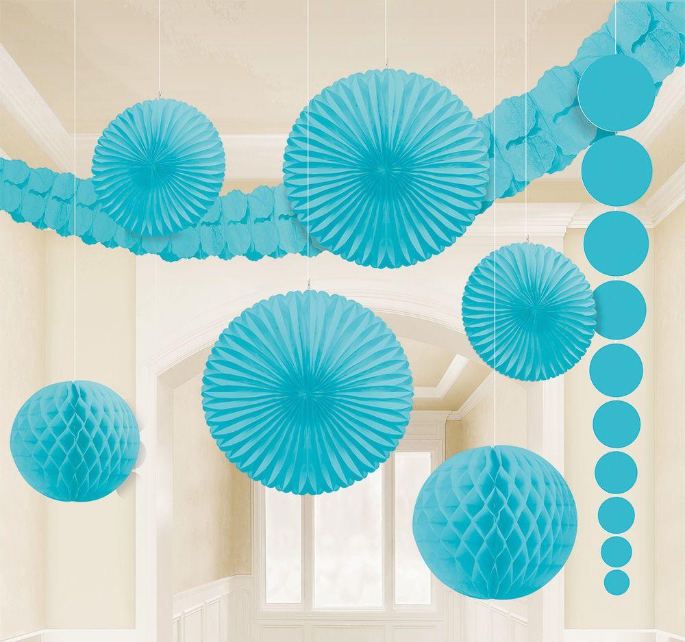 xl deko set karibik blau 9 tlg hochzeit party papier. Black Bedroom Furniture Sets. Home Design Ideas