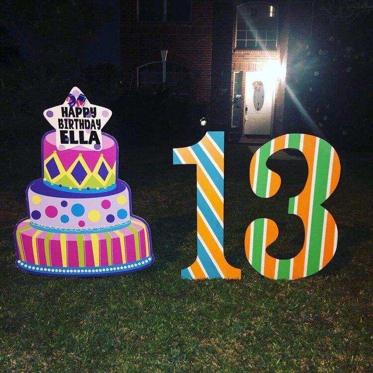 Park Art|My WordPress Blog_Happy Birthday Yard Signs Houston Tx