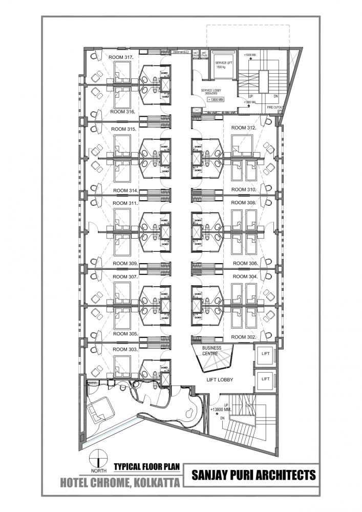 Chrome Hotel Sanjay Puri Architects Hotel Floor Plan Hotel