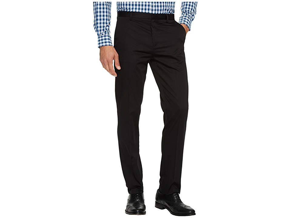 Calvin Klein Slim Fit Refined Twill Pant Black Mens Clothing Confidence comes easy when youre in a stylish Calvin Klein Twill Pant Refined twill pant narrows through the...