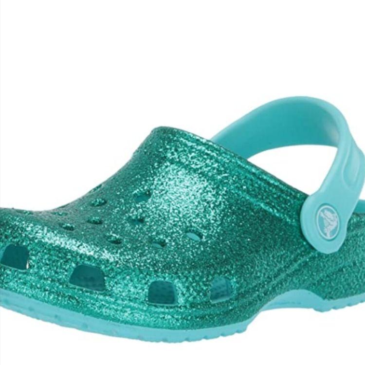 Crocs Kids' Classic Glitter Clog Girls
