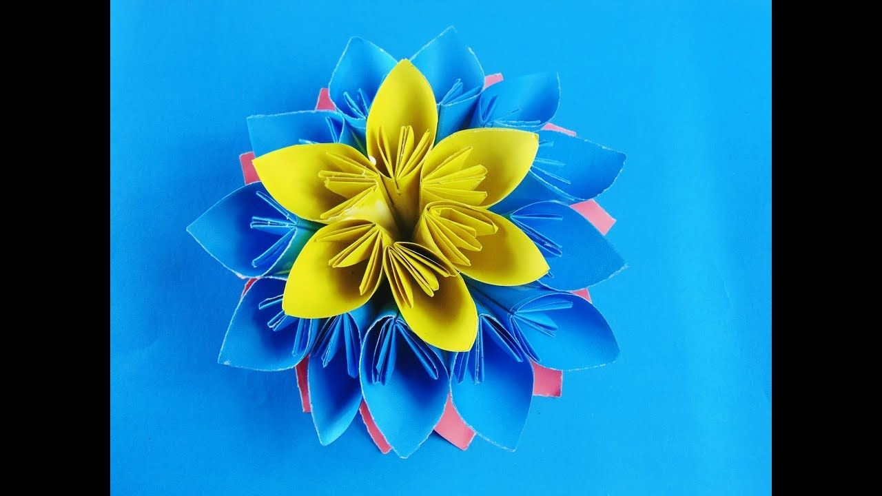 How To Make Origami Kusudama Flower Origami Beautiful Flower