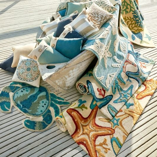 Coastal Outdoor Pillows And Rugs Http Www Pletely