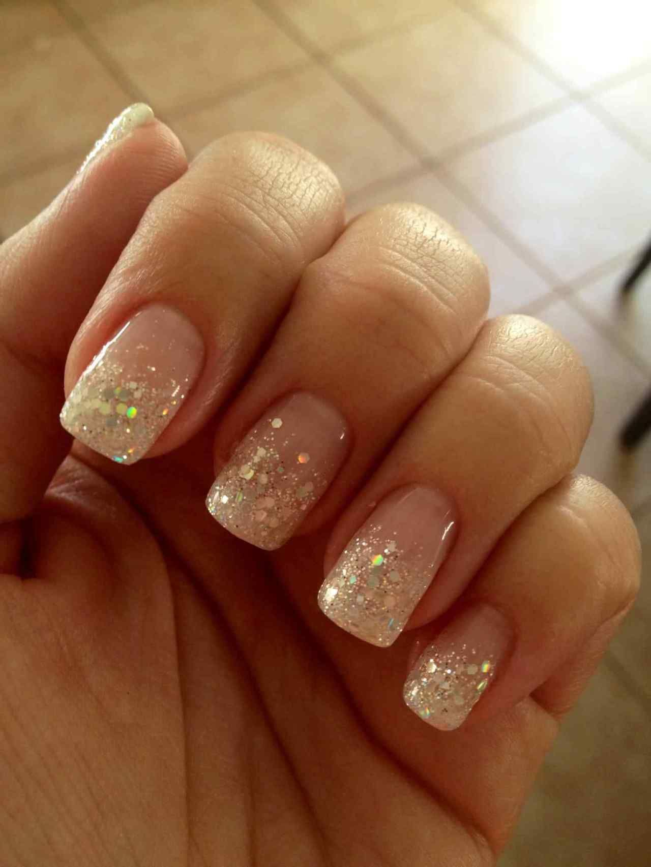 Brown Nails With Glitter Design Sparkle Beautiful 50 Most