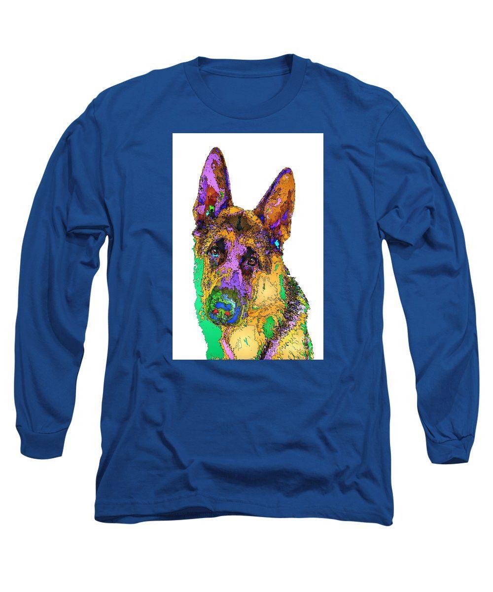 Long Sleeve T-Shirt - Bogart The Shepherd. Pet Series