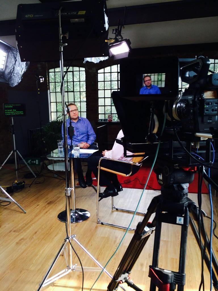 On set / Brunswick Studios / Filming / Monitors / Lights