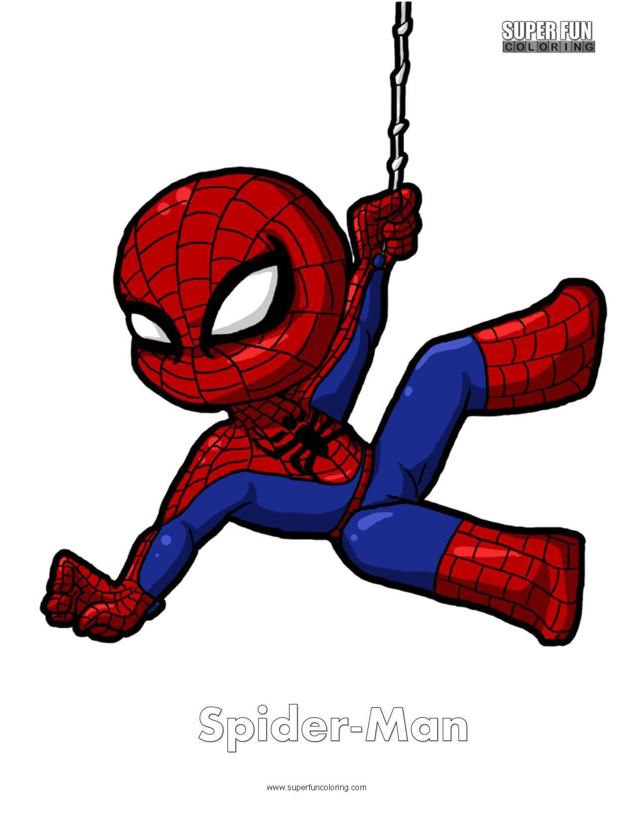 Spider Man Free Superhero Coloring Page Spiderman Drawing Baby Spiderman Spiderman Cartoon