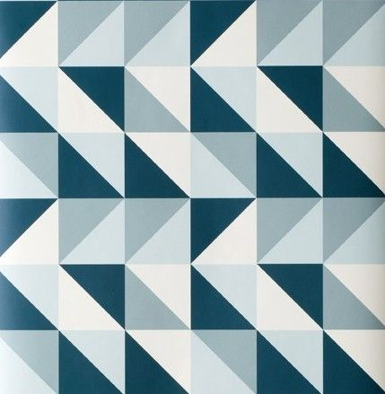 light blue navy and white triangle based geometric