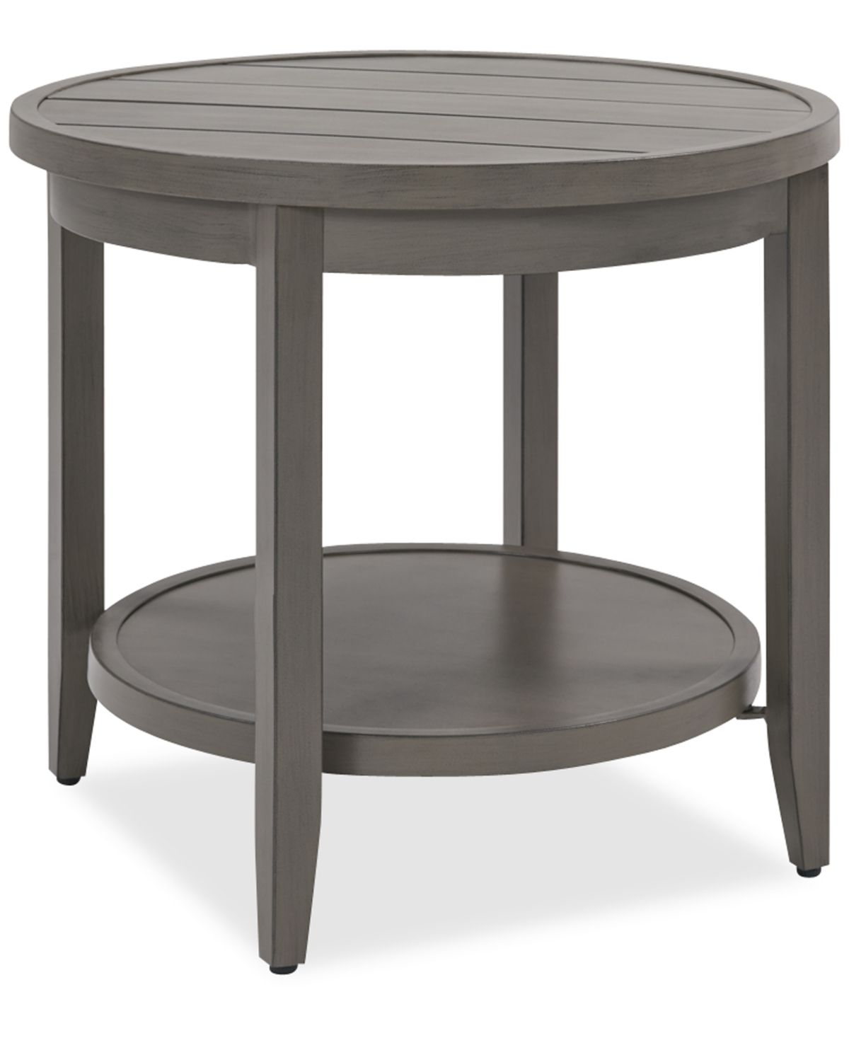 Closeout Rialto Outdoor Aluminum Round Side Table Created For