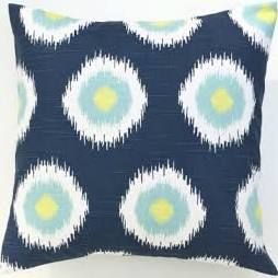 blue lime green and gray pillow - Google Search