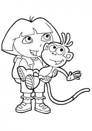 Dora Coloring Pages Nick Jr