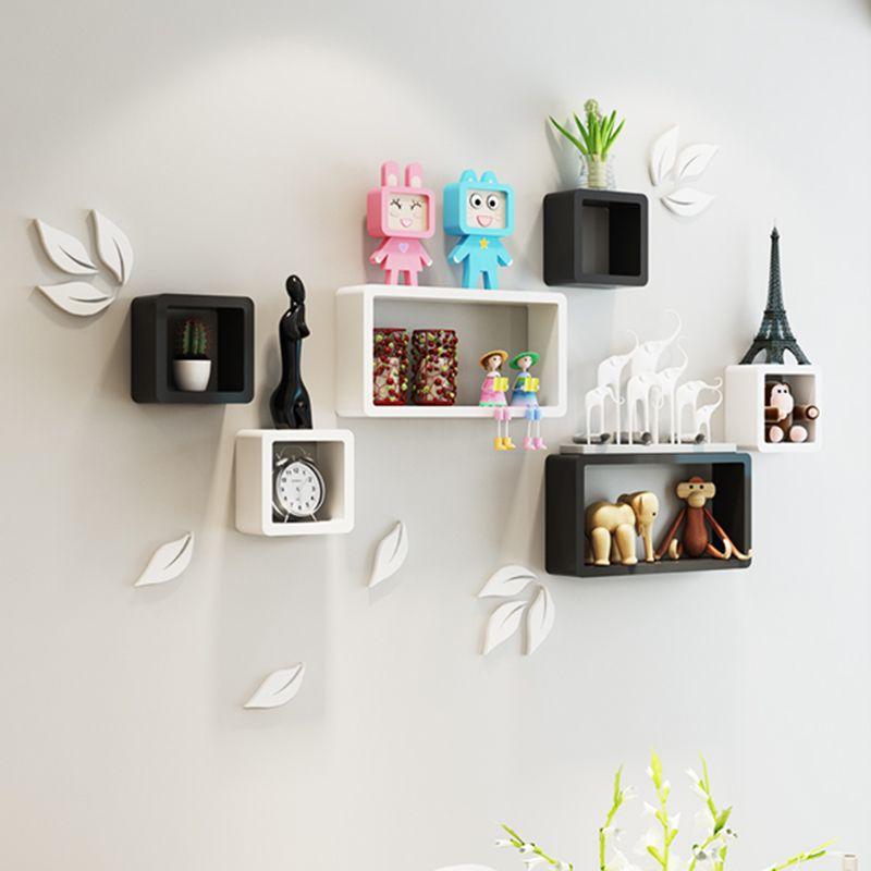 Usd 19 21 Wall Shelf Creative Lattice Children S Bedroom Living