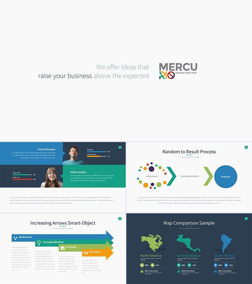 Mercurio PowerPoint Presentation Template Design | PPT | Pinterest ...