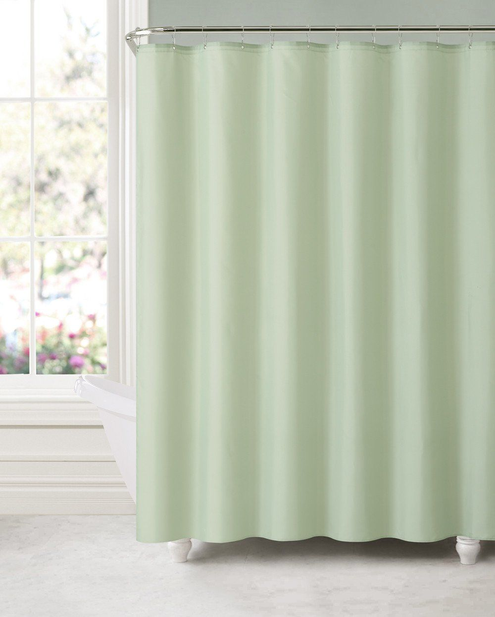 Royal Bath Sage Green Water Mildew Resistant Fabric Shower Curtain Liner 70 X