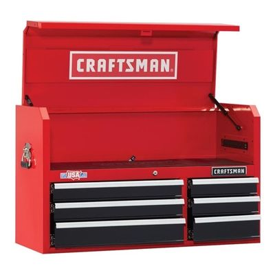 736cf9e43f2 Craftsman Tool Chest CMST24060RB Heavy-Duty 24.5-in x 41-in 6-Drawer ...