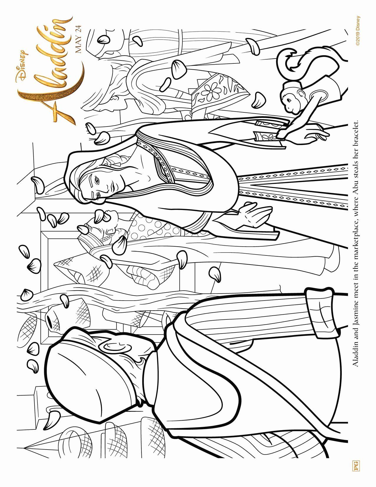 Disney Com Coloring Pages Inspirational Aladdin Free