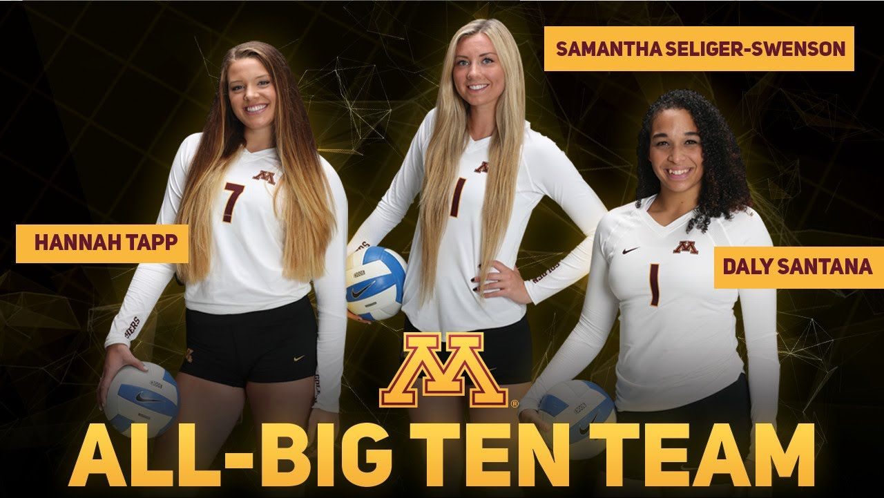 Gopher Volleyball 2015 All Big Ten Team With Images Big Ten Female Volleyball Players Professional Volleyball Players