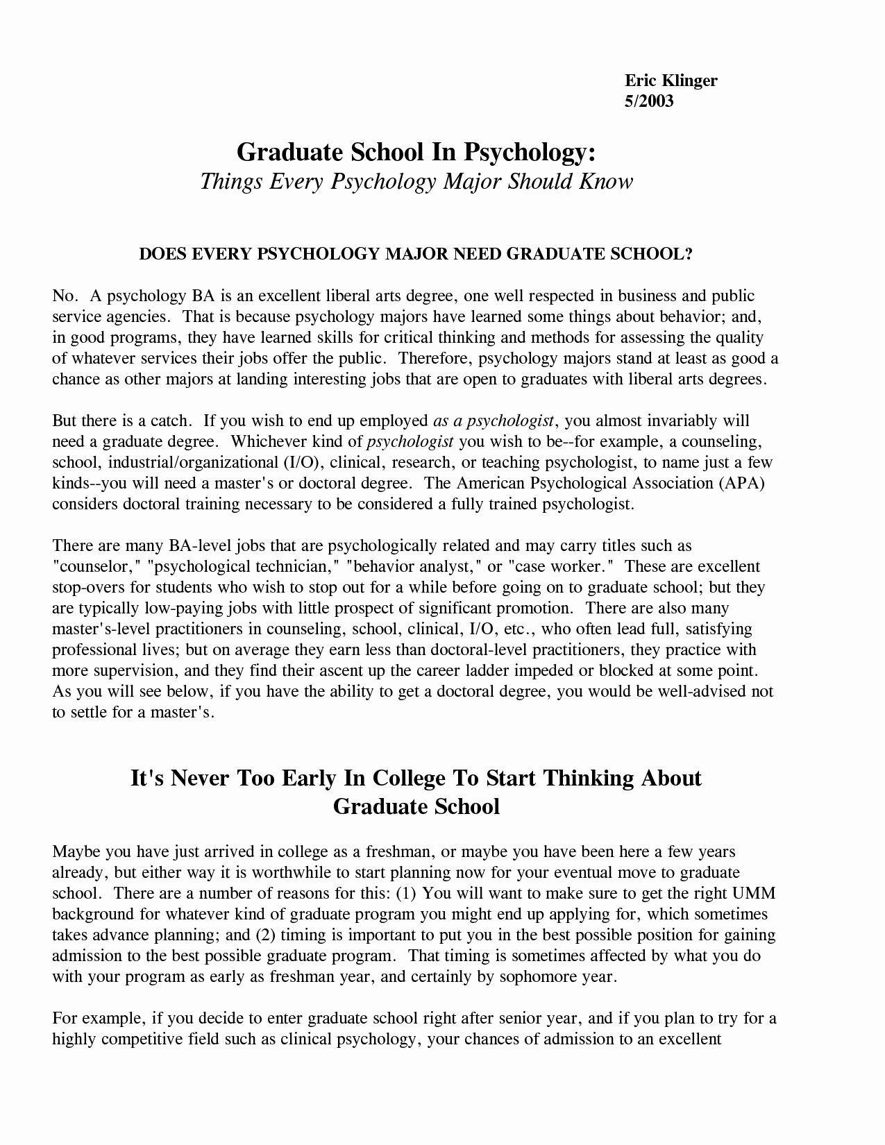 Example Graduate School Admission Essay Fresh 49