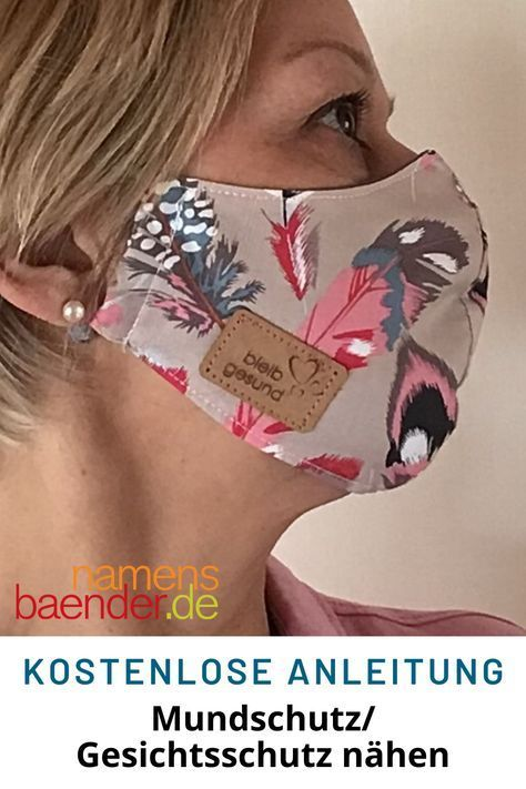 Mundschutz Gesichtsmaske nähen kostenlose Anleitung