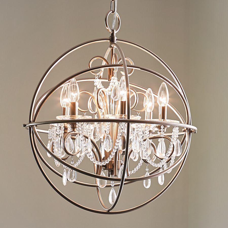 shop kichler lighting 6 light brushed nickel chandelier at lowes