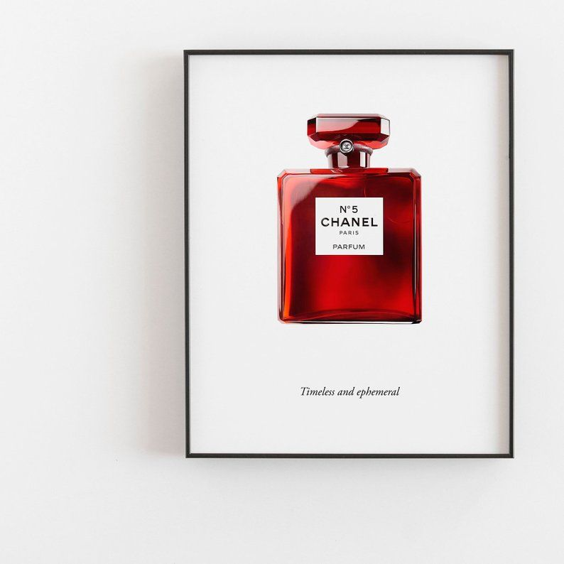 Coco Chanel No 5 Red Print Chanel Red Perfume Bottle Poster Chanel