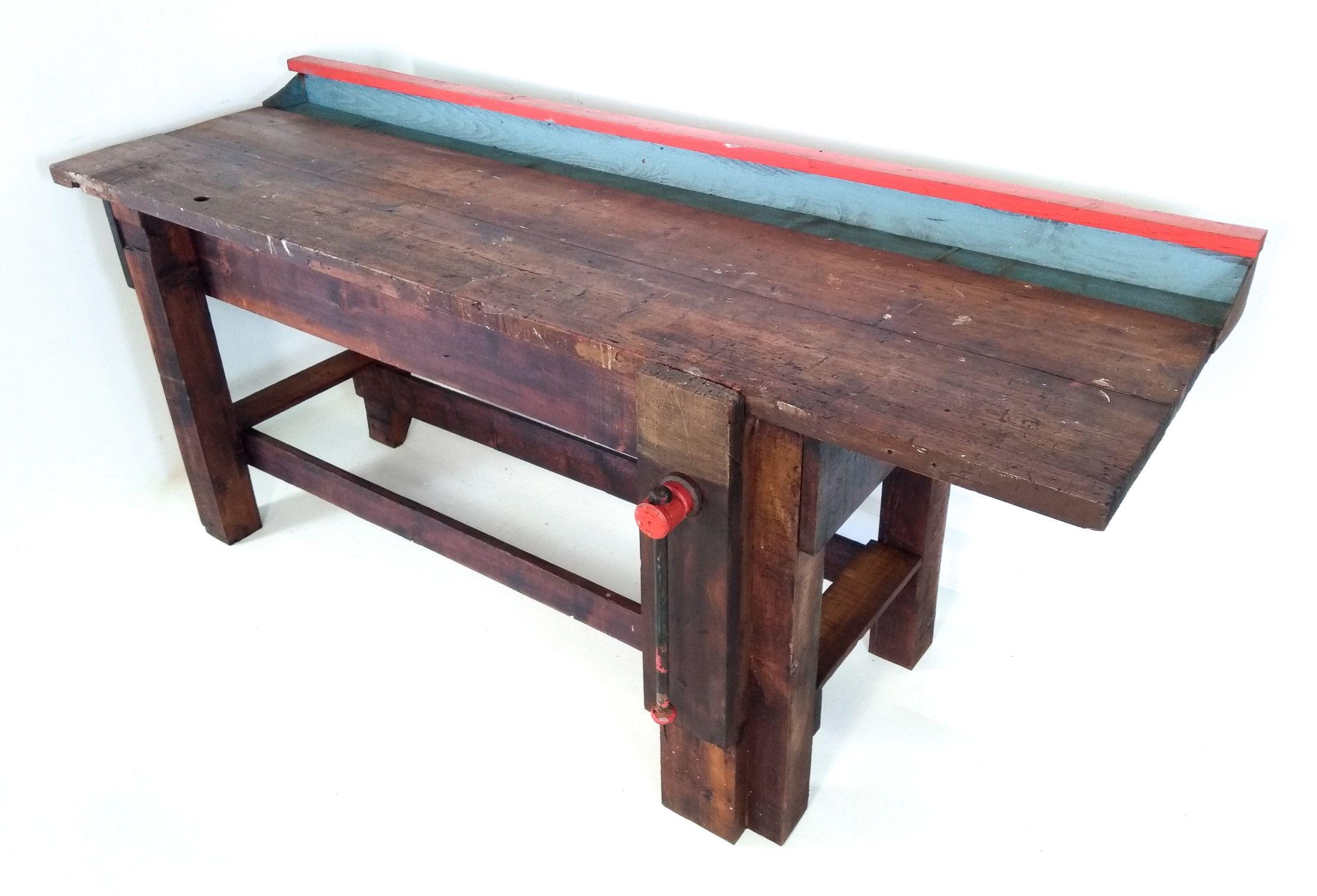 Banco Da Falegname Antico tavolo da falegname banco da lavoro in abete massello con