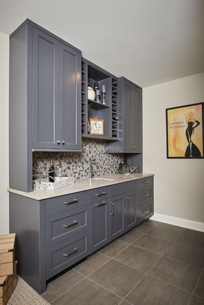 Best Benjamin Moore Kendall Charcoal Wet Bar Cabinet Paint 400 x 300