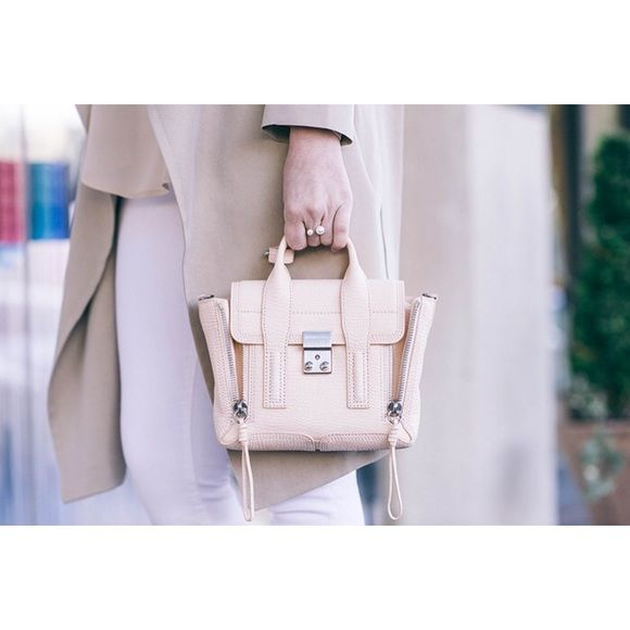 3.1 Phillip Lim Mini Pashli Satchel Authentic and like new, carried very lightly. Color: Feather (a soft beige grey) Selling at $758 with tax on Shopbop, Barney's, etc. A quintessential color for Spring. I received many compliments, but need to sell out. Comes with all care card and dust bag. Happy poshing. 3.1 Phillip Lim Bags Mini Bags