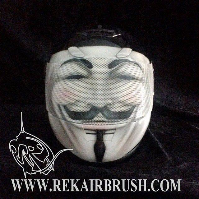 Rekairbrush Custom Airbrushed Motorcycle Helmet 646