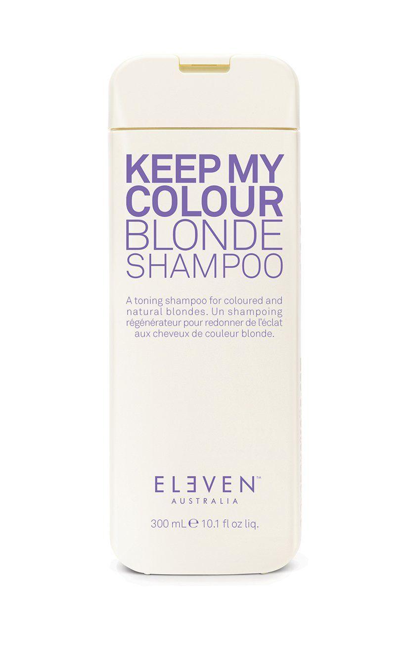 Gelbstich Schnell Entfernen Mit Dem Keep My Colour Blonde Shampoo Von Eleven Australia Es Ist Speziell Fur Blondes Haar Ent Blond Farben Blond Shampoo Shampoo