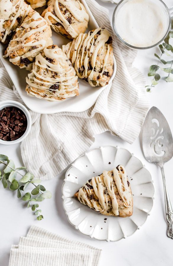 Espresso Chocolate Chunk Scones - Browned Butter Blondie