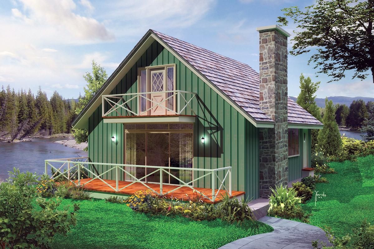 House Plan 5633 00411 Cottage Plan 1 200 Square Feet 3 Bedrooms 1 5 Bathrooms Lake House Plans Cottage Style House Plans Small Lake Houses