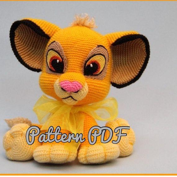 Lion Kion/Simba hat crochet pattern PDF, English USA   Sonja Kühnel ...