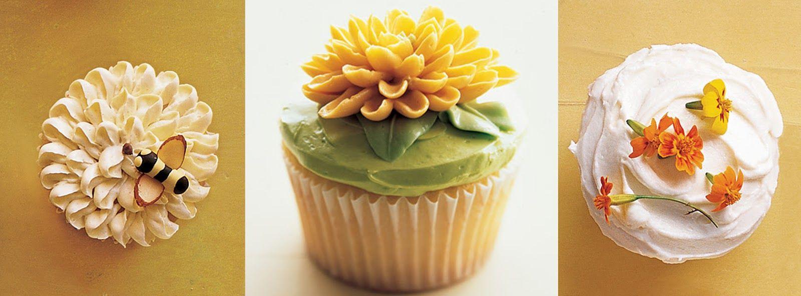 martha stewart tea tags   We love these adorable flower themed cupcakes from Martha Stewart .