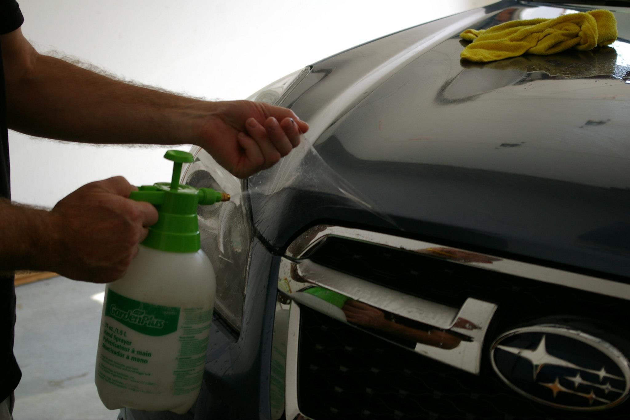 This is a paint protection film installation project that