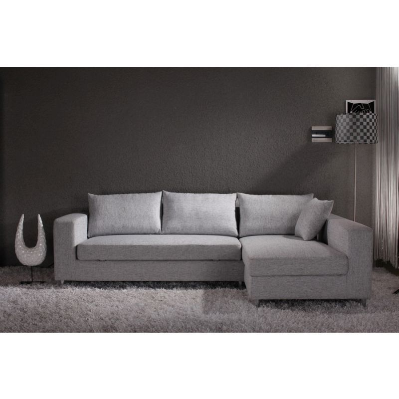 Fabric Sofa Bed w Storage Chaise Lounge in Grey | home ...