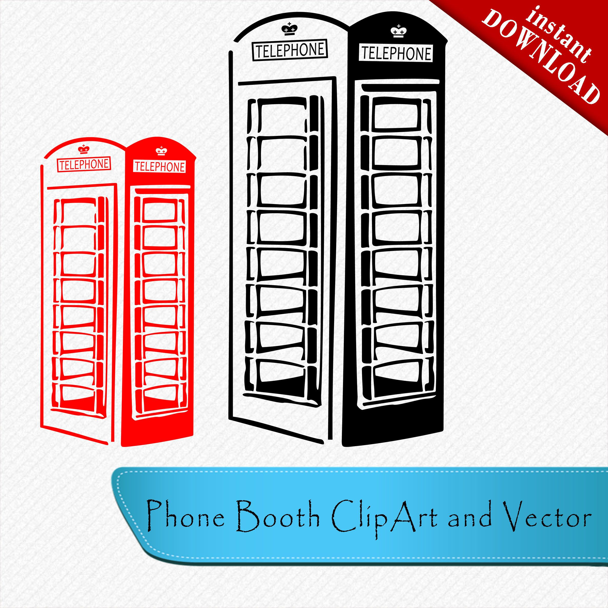 Telephone Booth SVG and clipart file Telephone booth